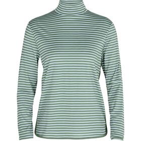 Icebreaker Roamaway LS Mock Neck Women sage/hydro/stripe